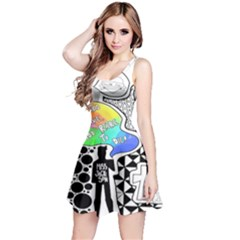 Panic ! At The Disco Reversible Sleeveless Dress by Onesevenart