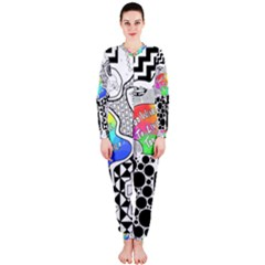 Panic ! At The Disco Onepiece Jumpsuit (ladies)  by Onesevenart