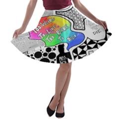 Panic ! At The Disco A Line Skater Skirt by Onesevenart