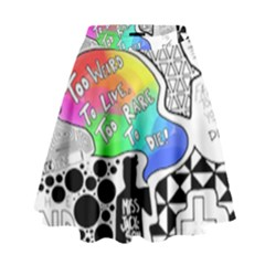 Panic ! At The Disco High Waist Skirt by Onesevenart
