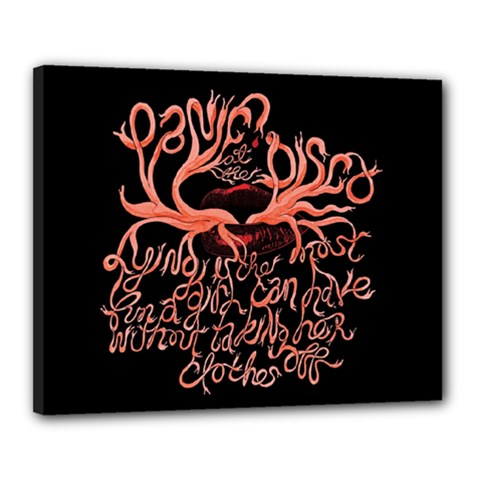 Panic At The Disco   Lying Is The Most Fun A Girl Have Without Taking Her Clothes Canvas 20  X 16  by Onesevenart