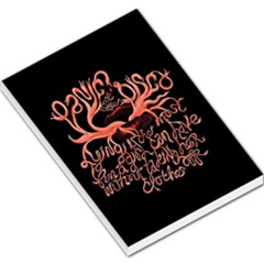 Panic At The Disco   Lying Is The Most Fun A Girl Have Without Taking Her Clothes Large Memo Pads by Onesevenart