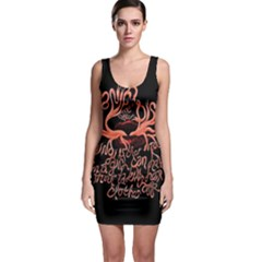 Panic At The Disco   Lying Is The Most Fun A Girl Have Without Taking Her Clothes Sleeveless Bodycon Dress by Onesevenart