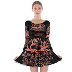 Panic At The Disco   Lying Is The Most Fun A Girl Have Without Taking Her Clothes Long Sleeve Skater Dress by Onesevenart
