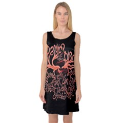 Panic At The Disco   Lying Is The Most Fun A Girl Have Without Taking Her Clothes Sleeveless Satin Nightdress by Onesevenart