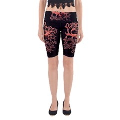 Panic At The Disco   Lying Is The Most Fun A Girl Have Without Taking Her Clothes Yoga Cropped Leggings by Onesevenart