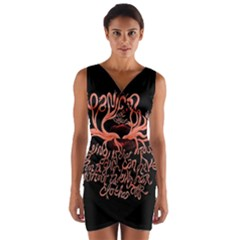 Panic At The Disco   Lying Is The Most Fun A Girl Have Without Taking Her Clothes Wrap Front Bodycon Dress by Onesevenart