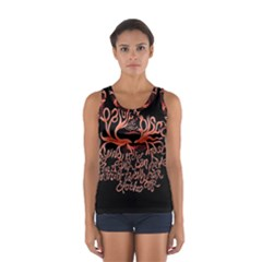 Panic At The Disco   Lying Is The Most Fun A Girl Have Without Taking Her Clothes Women s Sport Tank Top  by Onesevenart