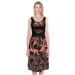Panic At The Disco   Lying Is The Most Fun A Girl Have Without Taking Her Clothes Midi Sleeveless Dress by Onesevenart