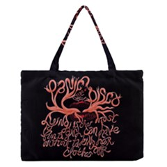 Panic At The Disco   Lying Is The Most Fun A Girl Have Without Taking Her Clothes Medium Zipper Tote Bag by Onesevenart