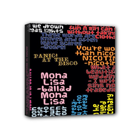 Panic At The Disco Northern Downpour Lyrics Metrolyrics Mini Canvas 4  X 4  by Onesevenart