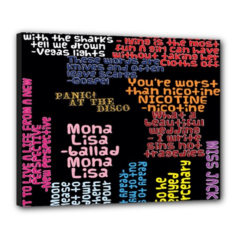 Panic At The Disco Northern Downpour Lyrics Metrolyrics Canvas 20  X 16  by Onesevenart