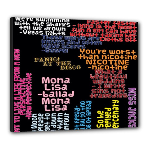 Panic At The Disco Northern Downpour Lyrics Metrolyrics Canvas 24  X 20  by Onesevenart