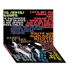 Panic At The Disco Northern Downpour Lyrics Metrolyrics Love Bottom 3d Greeting Card (7x5) by Onesevenart