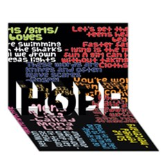 Panic At The Disco Northern Downpour Lyrics Metrolyrics Hope 3d Greeting Card (7x5) by Onesevenart