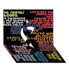 Panic At The Disco Northern Downpour Lyrics Metrolyrics Ribbon 3d Greeting Card (7x5) by Onesevenart