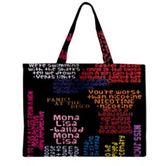 Panic At The Disco Northern Downpour Lyrics Metrolyrics Zipper Mini Tote Bag by Onesevenart