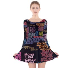 Panic At The Disco Northern Downpour Lyrics Metrolyrics Long Sleeve Velvet Skater Dress by Onesevenart