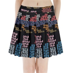 Panic At The Disco Northern Downpour Lyrics Metrolyrics Pleated Mini Skirt by Onesevenart