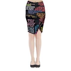 Panic At The Disco Northern Downpour Lyrics Metrolyrics Midi Wrap Pencil Skirt by Onesevenart