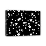 Black And White Starry Pattern Mini Canvas 7  x 5