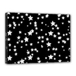 Black And White Starry Pattern Canvas 16  x 12