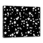 Black And White Starry Pattern Canvas 20  x 16