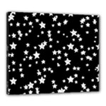 Black And White Starry Pattern Canvas 24  x 20