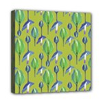 Tropical Floral Pattern Mini Canvas 8  x 8