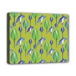 Tropical Floral Pattern Canvas 10  x 8