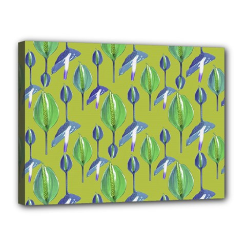 Tropical Floral Pattern Canvas 16  x 12
