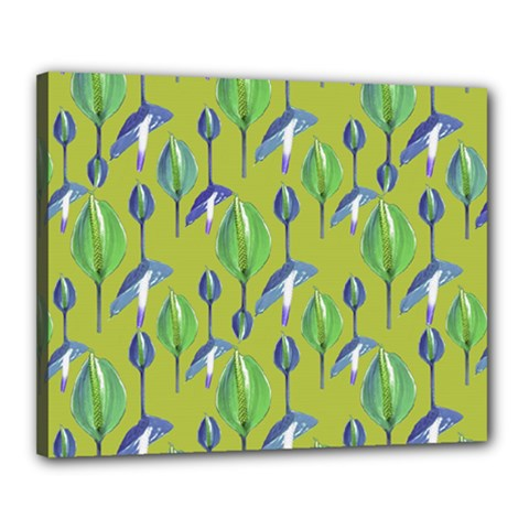 Tropical Floral Pattern Canvas 20  x 16