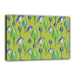 Tropical Floral Pattern Canvas 18  x 12