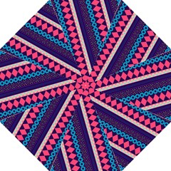 Purple And Pink Retro Geometric Pattern Straight Umbrellas by DanaeStudio