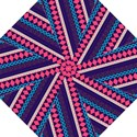 Purple And Pink Retro Geometric Pattern Straight Umbrellas View1