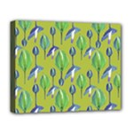 Tropical Floral Pattern Deluxe Canvas 20  x 16