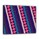 Purple And Pink Retro Geometric Pattern Deluxe Canvas 24  x 20   View1