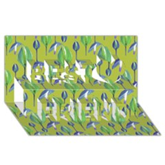 Tropical Floral Pattern Best Friends 3D Greeting Card (8x4)