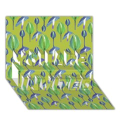 Tropical Floral Pattern YOU ARE INVITED 3D Greeting Card (7x5)