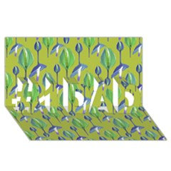 Tropical Floral Pattern #1 DAD 3D Greeting Card (8x4)