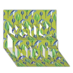 Tropical Floral Pattern You Did It 3D Greeting Card (7x5)