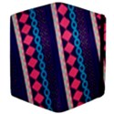 Purple And Pink Retro Geometric Pattern Apple iPad 3/4 Flip Case View4
