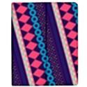 Purple And Pink Retro Geometric Pattern Apple iPad Mini Flip Case View1