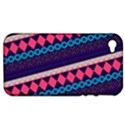 Purple And Pink Retro Geometric Pattern Apple iPhone 4/4S Hardshell Case (PC+Silicone) View1