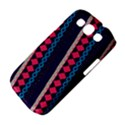 Purple And Pink Retro Geometric Pattern Samsung Galaxy S III Classic Hardshell Case (PC+Silicone) View4