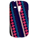 Purple And Pink Retro Geometric Pattern Samsung Galaxy S3 MINI I8190 Hardshell Case View2