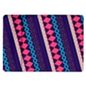 Purple And Pink Retro Geometric Pattern Samsung Galaxy Tab 10.1  P7500 Flip Case View1