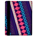 Purple And Pink Retro Geometric Pattern Samsung Galaxy Tab 10.1  P7500 Flip Case View2