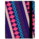 Purple And Pink Retro Geometric Pattern Samsung Galaxy Tab 10.1  P7500 Flip Case View3