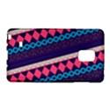 Purple And Pink Retro Geometric Pattern Galaxy Note Edge View1